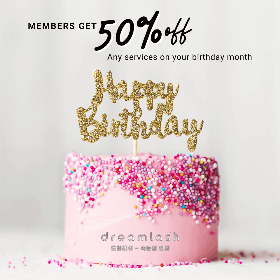 50% off member birthday
