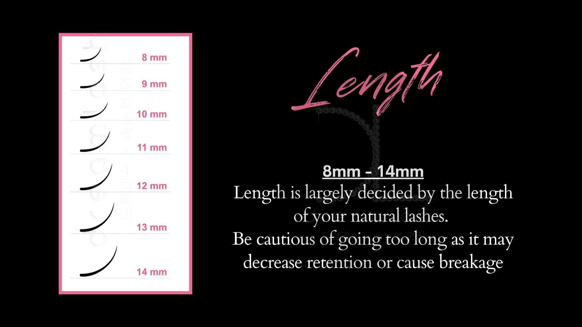 eyelash length