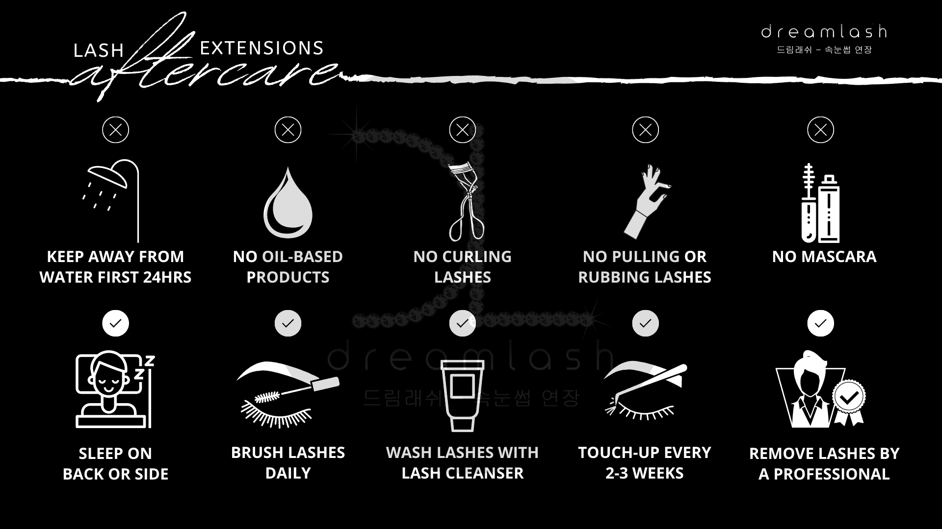 Lash Extensions Aftercare
