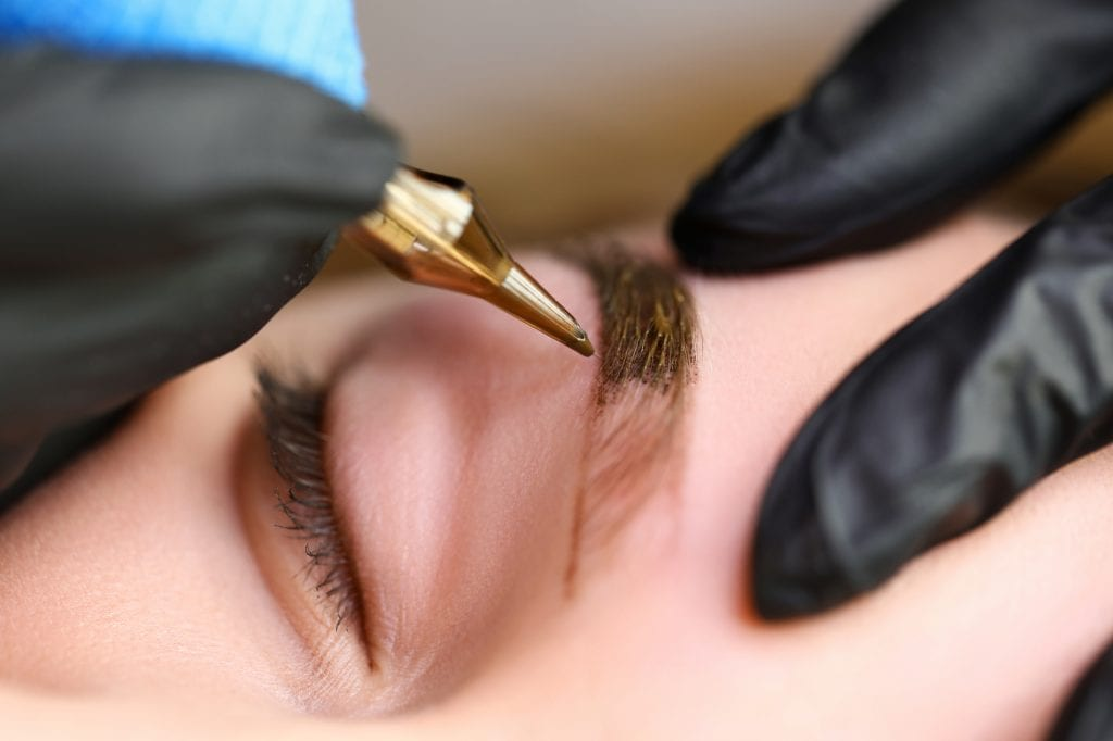 eyebrow embroidery healing process