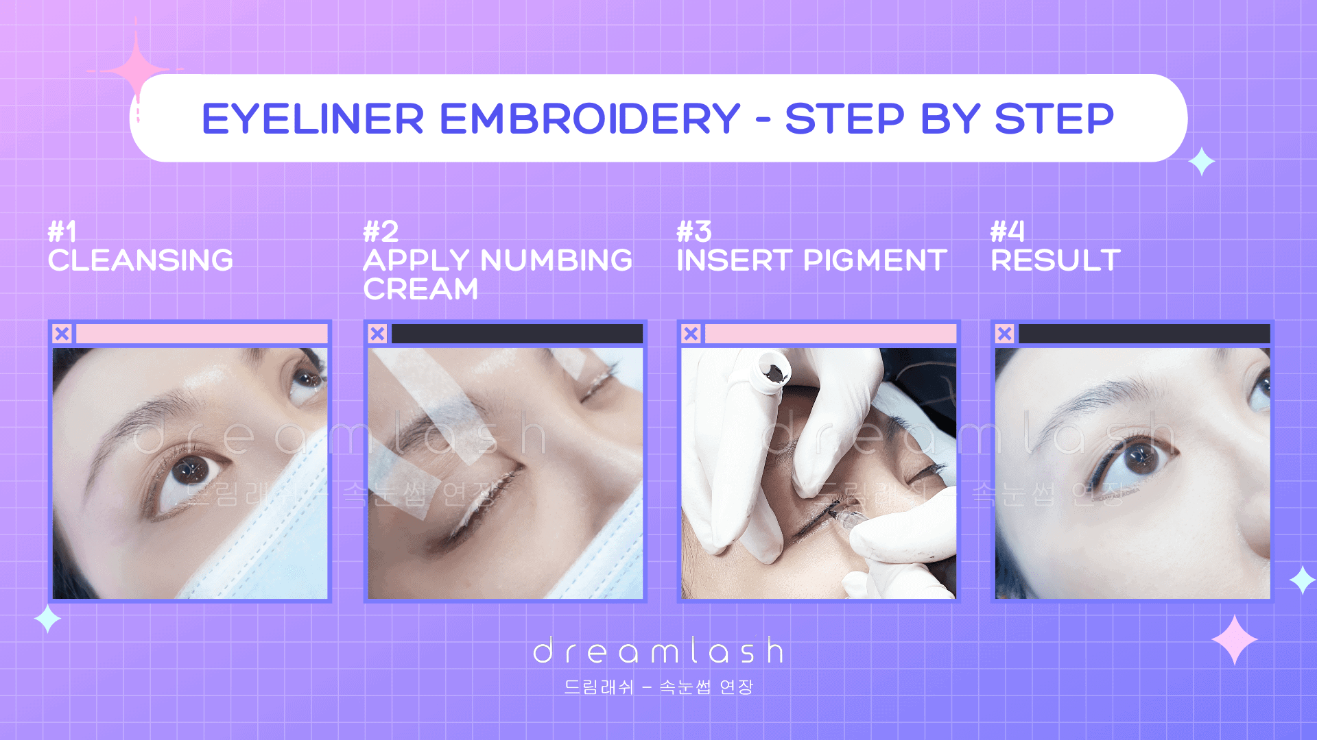 Eyeliner Embroidery Step by Step