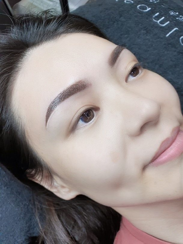 ombre eyebrow embroidery