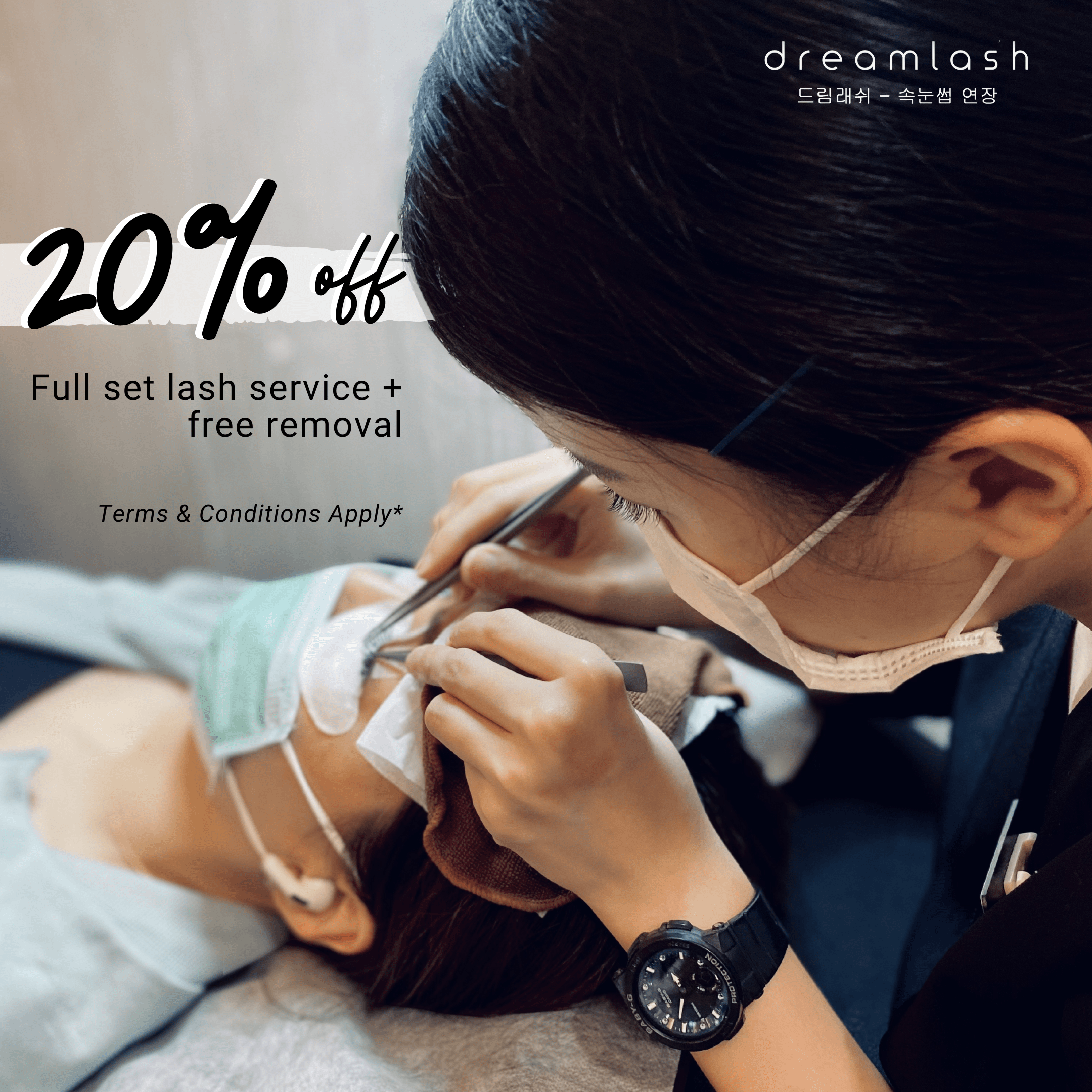 20% off first time customers