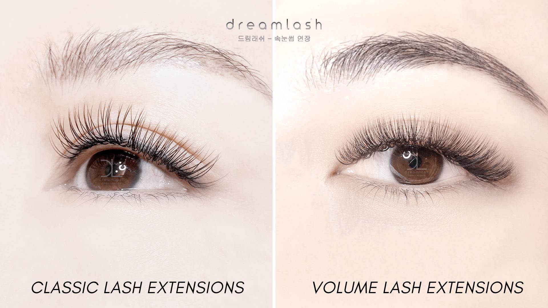 Classic Lash Extensions vs Volume Lash Extensions