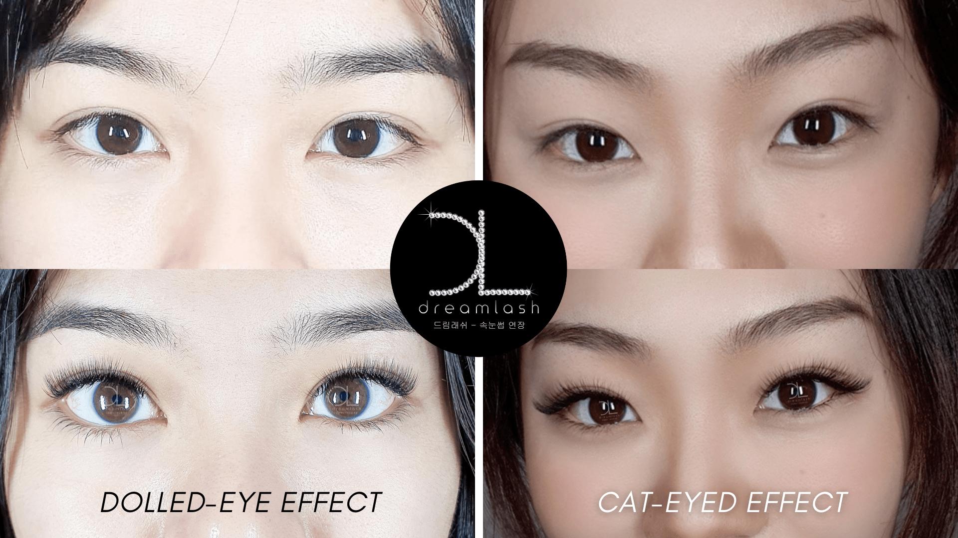 Dolled Eye Effect Eyelash vs Cat Eyed Effect Eyelash